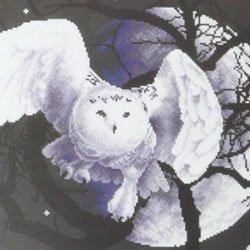 画像1: クロスステッチキット 白い梟(ふくろう)