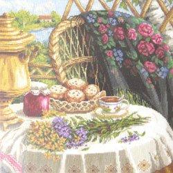 画像1: クロスステッチキット 夏の静物画 (PANNA 1488)