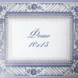 画像1: クロスステッチ キット プラスチックキャンバスで作るフォトフレーム 青いバラ(グジェリ)