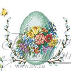 画像1: ビーズ刺繍 パスハ・イースターのフラワーエッグ (ТР002)