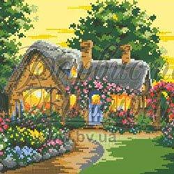 画像1: ビーズ刺繍 おとぎの家 全面刺し