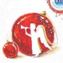 画像1: クロスステッチ キット MERRY CHRISTMAS! 木製オーナメント付き (RTO M645)