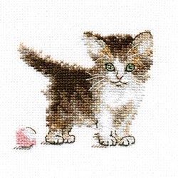 画像1: クロスステッチキット ちいさな子猫 (Alisa АЛИСА アリサ 0-169)