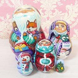 画像1: マトリョーシカ クリスマスプレゼント