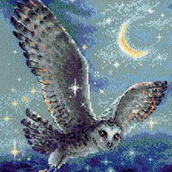 画像1: 【OUTLET5%OFF】クロスステッチ キット 魔法のフクロウ (RIOLIS・リオリス・1872) Magic Owl