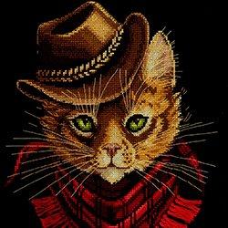 画像1: クロスステッチ キット TOM outlaw (PANNA J-7173 猫)