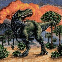 画像1: クロスステッチキット ティラノサウルス (PANNA J-7216 恐竜)