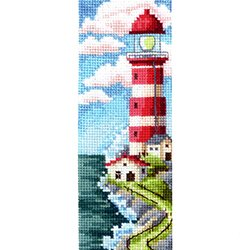 画像1: クロスステッチキット ブックマーク 灯台 ROAD TO THE LIGHTHOUSE (B-50)