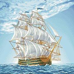 画像1: ビーズ刺繍 航海 全面刺し (ТП025)
