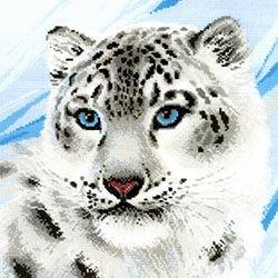 画像1: クロスステッチキット 白豹(RIOLIS・リオリス・1886 雪豹)