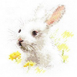 画像1: クロスステッチキット 白いうさぎ (Alisa АЛИСА アリサ 0-226)