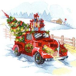画像1: クロスステッチキット クリスマスに出発 (RIOLIS・リオリス・1906)